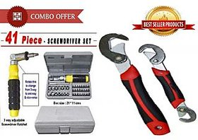 Kudos 41 Pcs Tool Kit Screwdriver With Snap N Grip Wrench