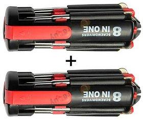 Kudos Buy 1 get 1 Free 8 in 1 Toolkit Screwdriver LED Torch Portable Toolkit