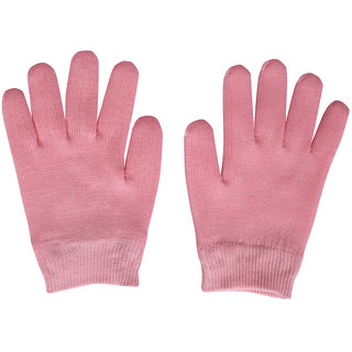 Importikah Pink Moisturize Gel Spa Gloves Soften Repair Cracked Skin Treatment (Pink)