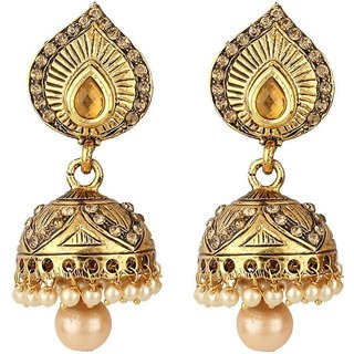 Jewels Gehna Delicate Artificial Non-Gorgeous Funky Designer Stylish Jhumki Earring Set For Women  Girls
