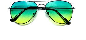 Magjons Green Gradient Aviator Men Sunglasses MJ22414