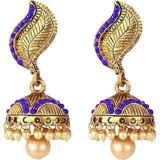 Jewels Gehna Traditional Antique Party Wear Latest Designer Jhumka / Jhumki Earring Set For Women  Girls