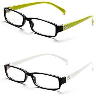 39bf22f0b61 Buy Magjons Green and White Rectangle Unisex Eyeglasses Frame set of 2 with  case Online - Get 76% Off