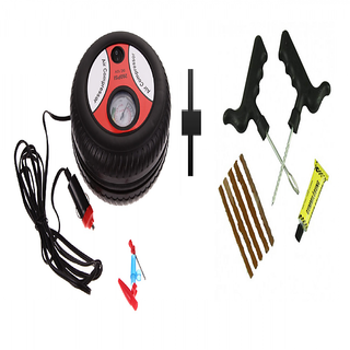 s4d Car Tire Inflator  Mini Air Compressor with puncture kit