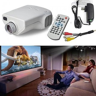 MINI Projector 10-100 LED for TV,DVD,PC with SD,USB,AV In VGA,HDMI,CoaxialTV NW