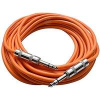 "Seismic Audio - SATRX-25Orange - 25 Foot Orange 1/4"" TR"