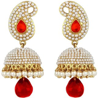 Penny Jewels Enameled Abstract Non-Precious Trendy Jhumka Jhumki Earring Set For Women  Girls