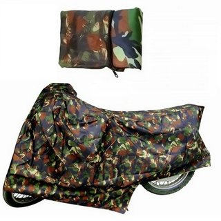 IndiWeaves Polyster All Weather Proof  Military Print Bike Body Cover With Mirror Pockets For Bajaj Pulsar RS200