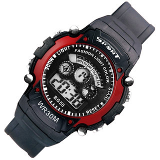 i DIVAS  Mens Watch Quartz Digital Watch Men Sports Watches LED Digital Watch Red