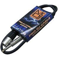 Mr. Dj CQXM3 3-Feet 1/4-Inch Male To XLR Male Cable