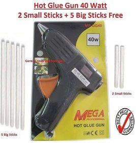 Mega Professional Hot Glue Gun 40 W + 2 small+ 5 Big Pcs Glue Sticks free