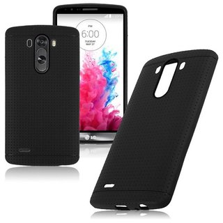 Lenovo A6600 Back Cover Premium Soft Black Dotted TPU Back Cover