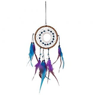 Imported Handmade Turquoise Dream Catcher With Feathers Wall Hanging Decoration