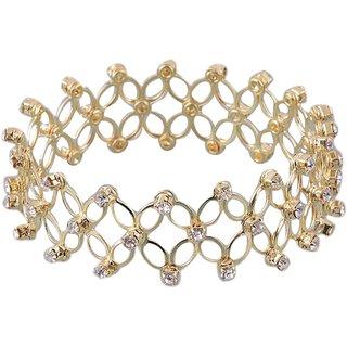 Kriaa by JewelMaze Gold Plated Zinc Alloy Austrian Stone Bracelet-PAA0621