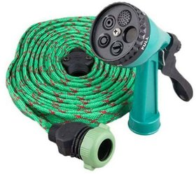 Branded 10 Meter Water Spray Gun For Home Bike Car Cleaning Gardening Plant Tree Watering Wash - Multifunction Garden Hose Pipe