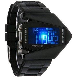i DIVAS  super selling  Bomber Aircraft LED Black Digital Silicon Watch