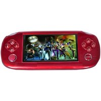 Playstation PSP 4GB Handheld Console Games ( Red ) With