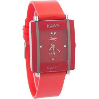 i DIVAS  Kawa Addic Rectangular Crystal Studded Dial Analog Watch - For Women
