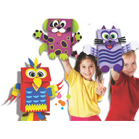 Paper Bag Puppets, Art And Craft Kit Toys