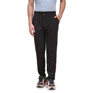 Alfa Active Hosiery Cotton Track Pant/Pyjama Black with Zipper