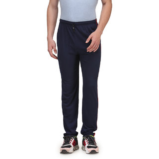 Alfa Active Hosiery Cotton Track Pant/Pyjama Navy with Zipper
