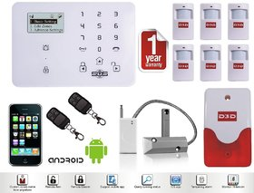 Wireless GSM SMS IR Home Security Alarm System Burglar Intruder DIY Kit Autodial Shutter Sensor