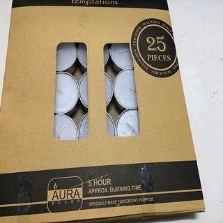 AuraDecor Set of 50 tealights ( Life Approx 4 hours)
