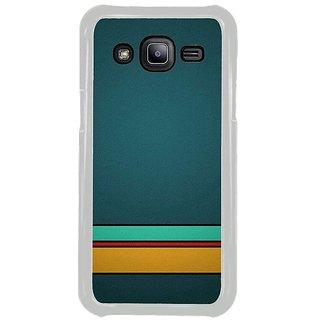 Fuson Designer Phone Back Case Cover Samsung Galaxy J2 ( Stripes On The Blue Screen )