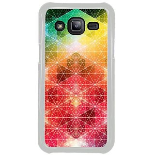 Fuson Designer Phone Back Case Cover Samsung Galaxy J2 ( Triangles That Come Together Beautifully )