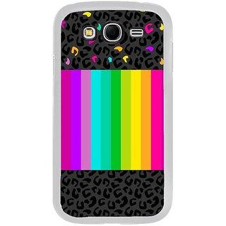 Fuson Designer Phone Back Case Cover Samsung Galaxy Grand Max ( Animal Print Beside Rainbow )