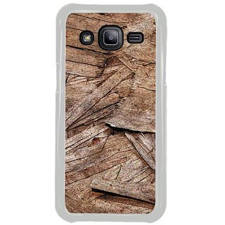 Fuson Designer Phone Back Case Cover Samsung Galaxy J2 ( Broken Pieces Of Tree Bark )