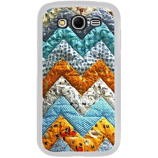Fuson Designer Phone Back Case Cover Samsung Galaxy Grand 2 ( Zigzag Design Made Of Cloth )