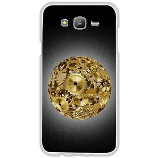 Fuson Designer Phone Back Case Cover Samsung Galaxy E7 ( Gold Sphere Made Of Gears )