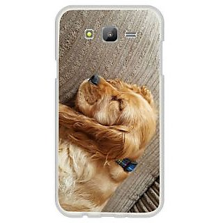 Fuson Designer Phone Back Case Cover Samsung Galaxy E7 ( A Sleeping Spaniel )
