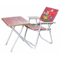 Steel Art Kids Chair And Table Set_H4FT5