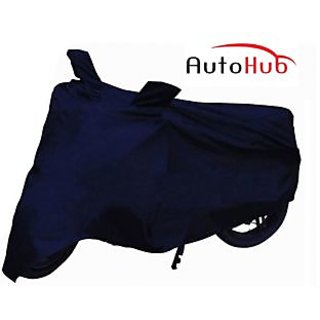 Flying On Wheels Two Wheeler Cover Without Mirror Pocket Dustproof For Bajaj Platina 100 Es - Blue Colour