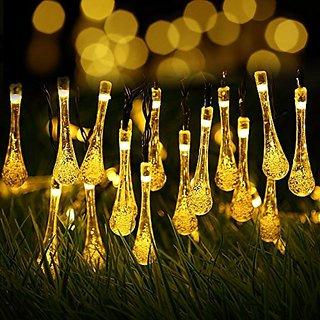 Xxmanxsolar outdoor string lightskingcoo 20ft 30 led water drop xxmanxsolar outdoor string lightskingcoo 20ft 30 led water drop solar string fairy waterproof lights aloadofball Images