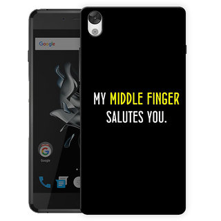 newest a1a9d 5556c My Middle Finger Salutes You Printed Designer Mobile Back Cover For