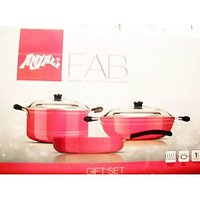 Anjali Non-Stick Cookware (Kadai, Fry Pan And CASSEROLE) - 3 Piece Gift Set