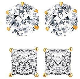 Bhagya Lakshmi Gold-Plated Stud Earrings For Women/Girls(Combo Of 2)