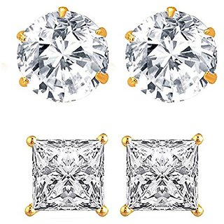 25c235d5d Buy Youbella Gold-Plated Stud Earrings For Women Girls(Combo Of 2 ...