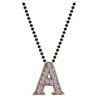 Youbella designer husbands initials mangalsutra necklace pendant youbella designer husbands initials mangalsutra necklace pendant with chain for women mozeypictures Image collections