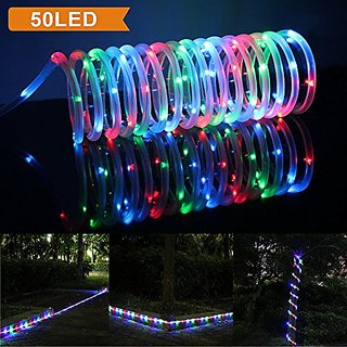 Lte 23ft solar rgb rope lights 50 led outdoor waterproof rope lte 23ft solar rgb rope lights 50 led outdoor waterproof rope lights ideal for decorationsgardens weddings partiesmulti color aloadofball Images
