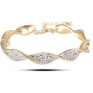 7c1b0766bdcbe YouBella Jewellery Gracias Collection Gold Plated Bracelet Bangle For Girls  And Women