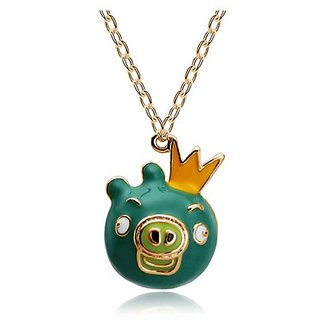 YouBella Jewellery Gracias Collection Designer Angry Birds Pendant / Necklace For Women, Kids And Girls