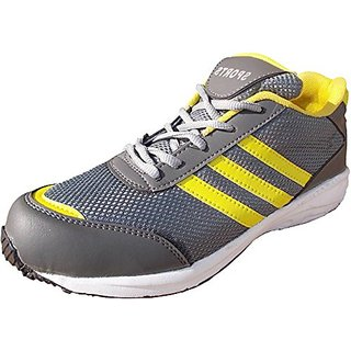 Port Unisex Down-force Yellow Mesh runing shoes