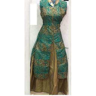 Hot Trends Dress In Green And Khaki Color