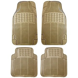 Bluetuff Perfect fit Beige Rubber Car Foot Mat For Chevrolet Forester