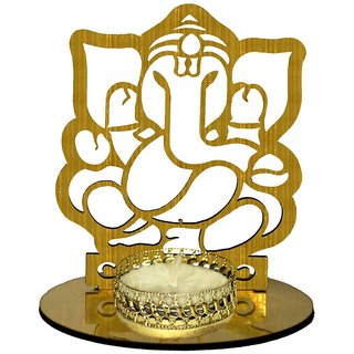 AuraDecor Shadow Tealight Holder, Ganesha