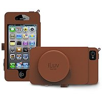 iLuv ICA7J344TAN Camera Case Premium Leather Case with cord management pocket for Apple iPhone 5 - 1 Pack - Retail Packaging - Tan
